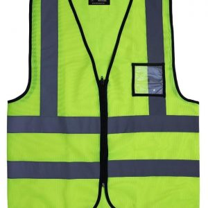 LIME REFLECTIVE VEST ZIP